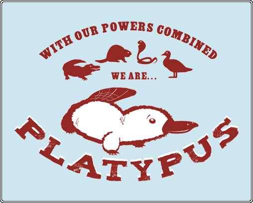 Shrew Man Chew. The male platypus has a