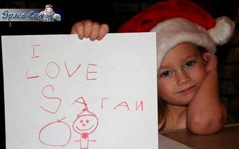 funny Santa message picture