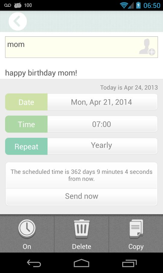 تطبيق SMS Scheduler لإرسال sms في الوقت الذي تحدده