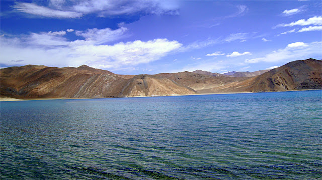 panoramic view of Ladakh lake