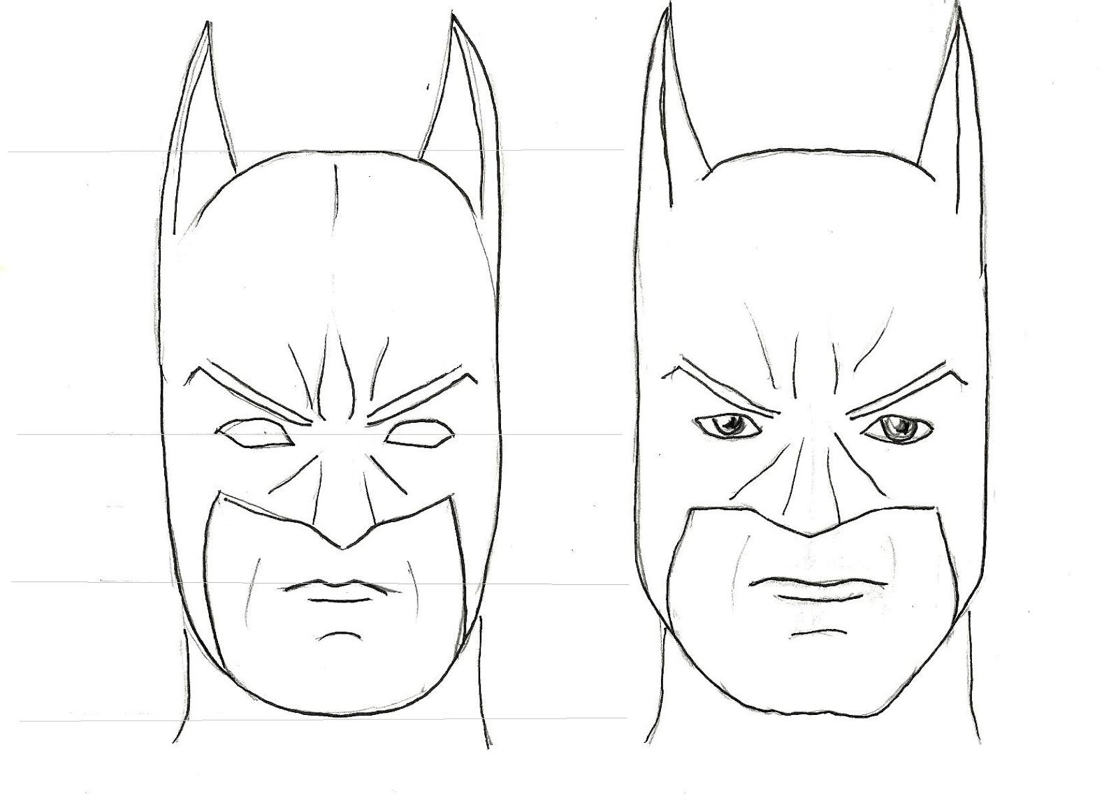 Art Class Ideas Draw Batman Figure