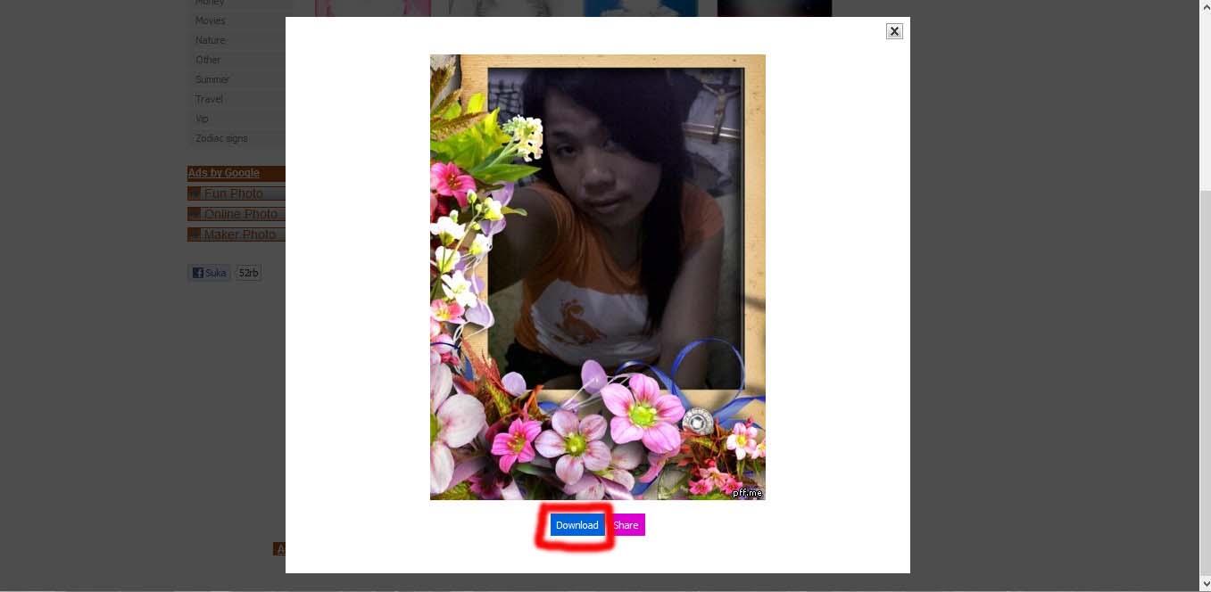 """gambar di bawah ini. Klik """" Download """" untuk menyimpan Foto"""