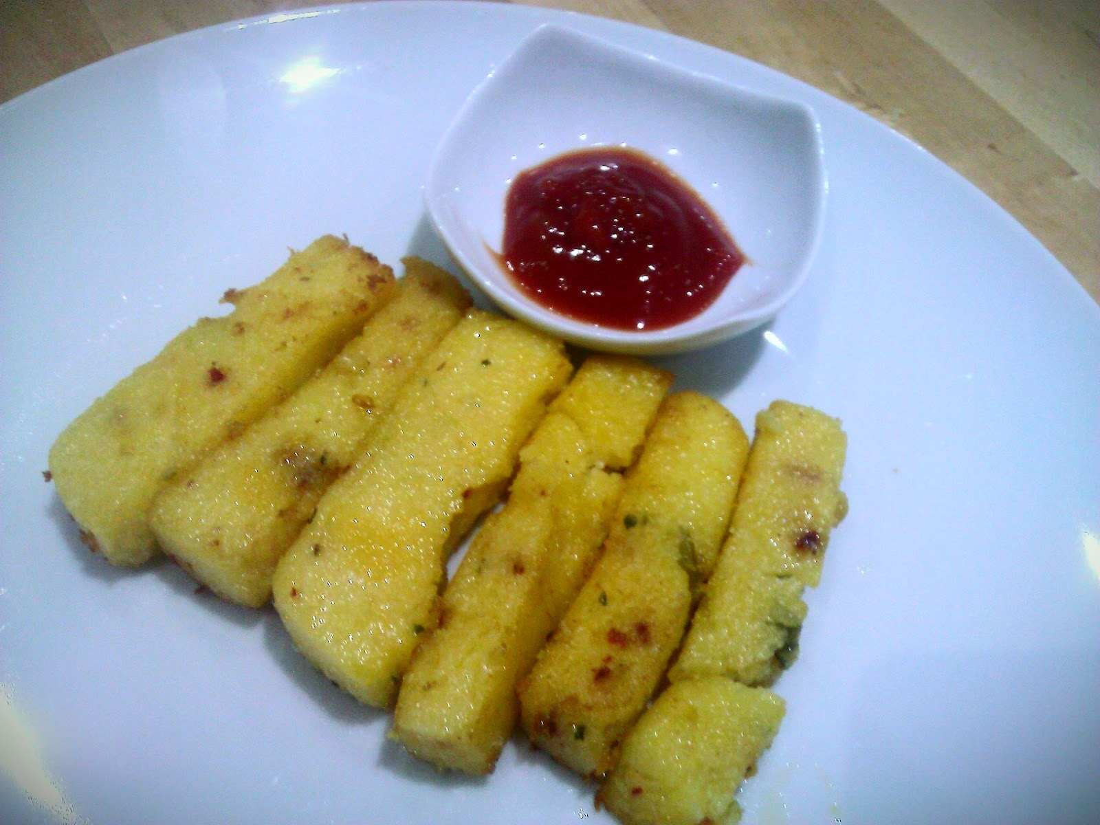 how to cook polenta chips