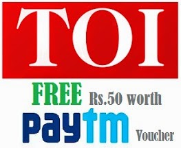 "Install ""The Times of India"" Mobile app & Get Rs.50 Paytm voucher absolutely Free"