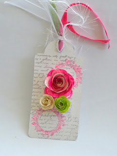 Valentine's Day Tag with flowers