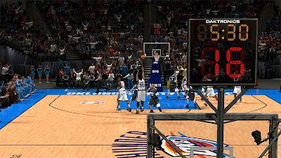 NBA 2K13 OKC Thunder Shotclock Texture Mod