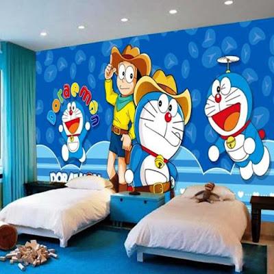 Contoh Desain Kamar Tidur Anak Doraemon