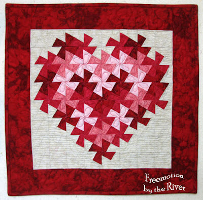Twisting Heart Valentine tutorial at Freemotion by the River