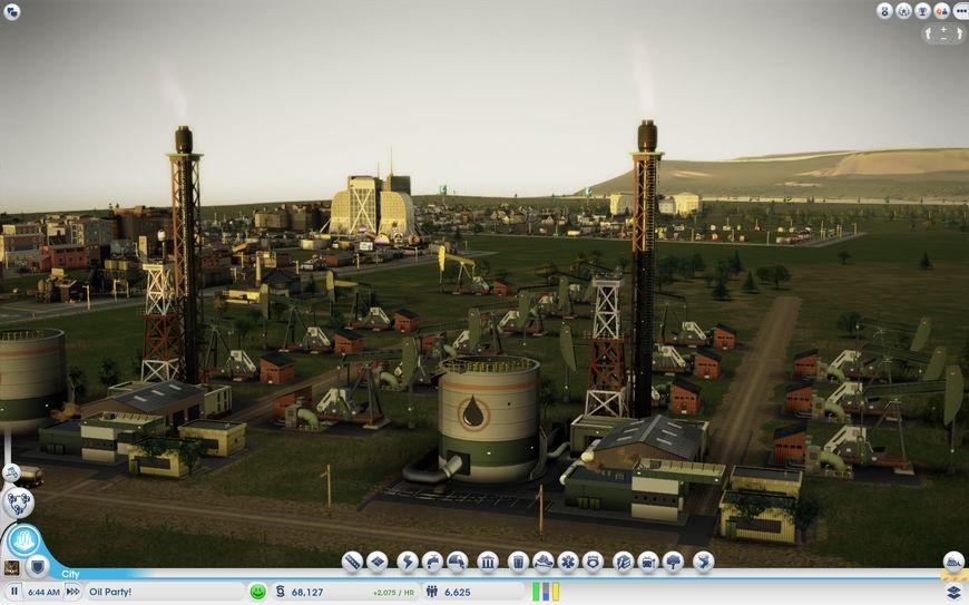 Промышленные районы находятся вдали от жилой застройки