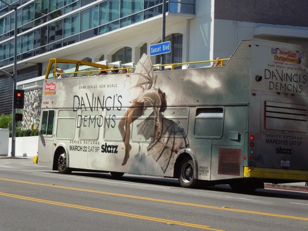 Da Vinci's Demons season 2 bus advert