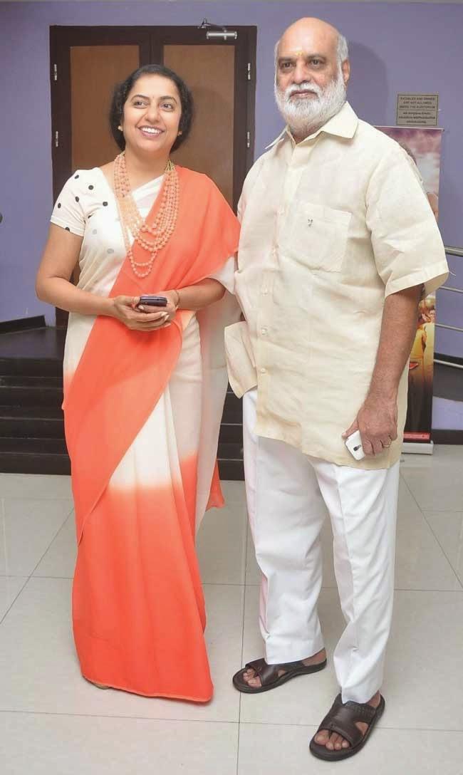 Suhasini Maniratnamin and Director Raghavendra Rao