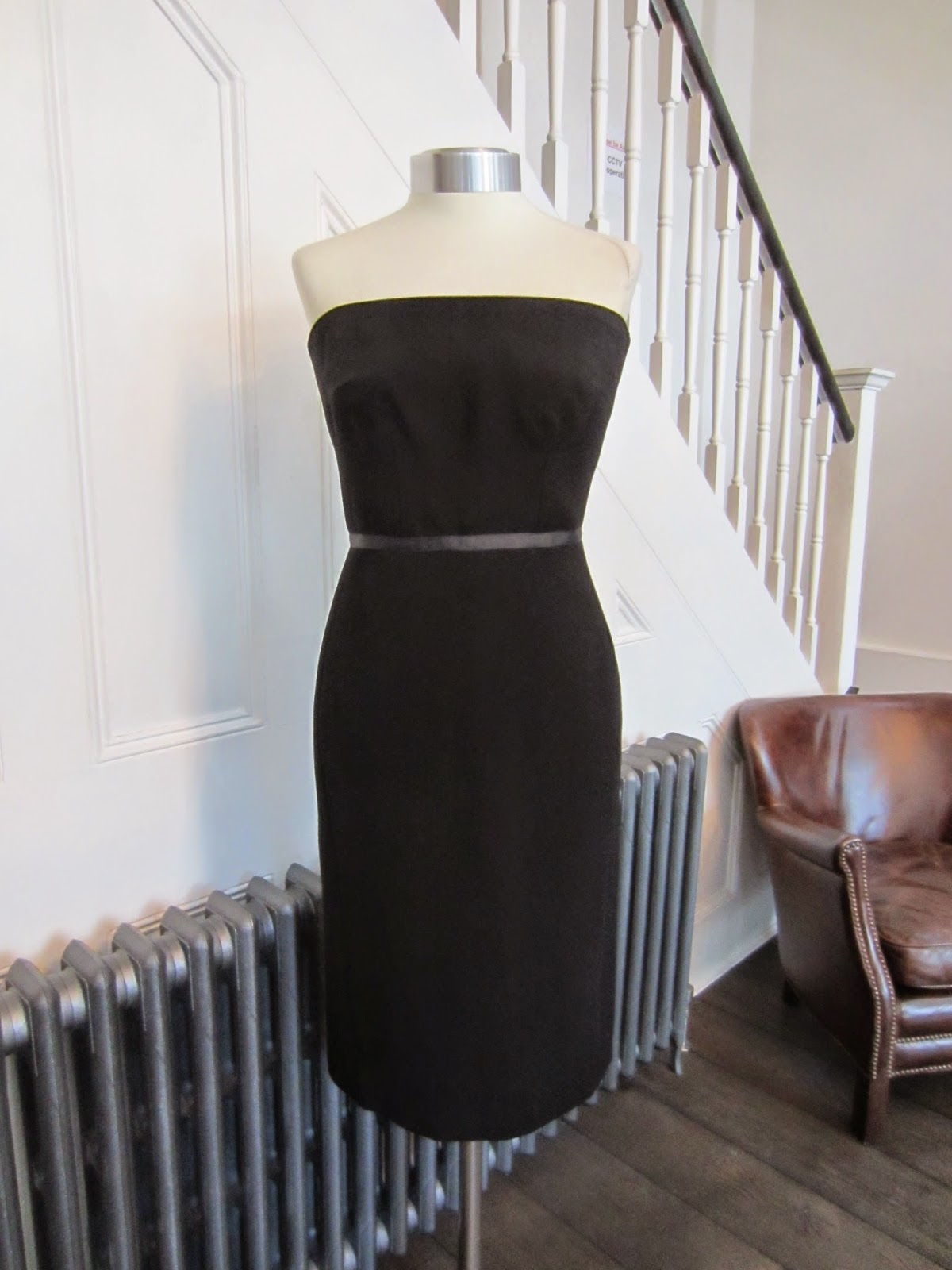 Jasper Conran Black Strapless Cocktail Dress
