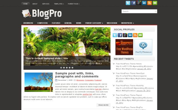 News Blog Wordpress Theme Template