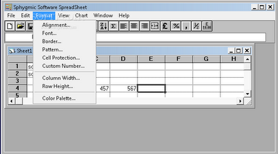 Sphygmic Software Spreadsheet | free spreadsheet software