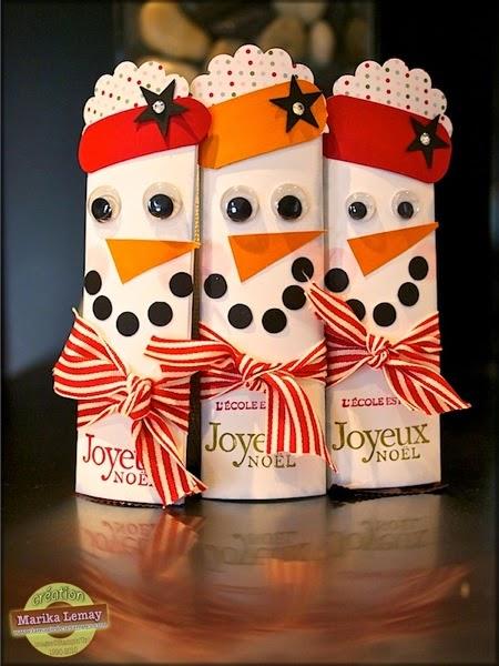 Emballage bonhomme de neige