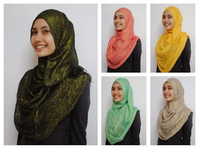 glitter wide shawl
