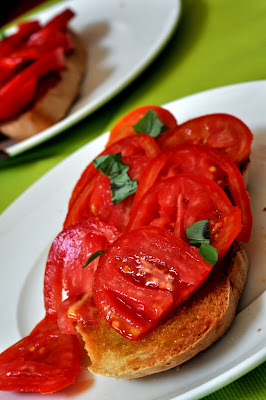 Bruschette di Pomodoro at Osteria del Borgo in Montepulciano, Italy - Photo by Taste As You Go