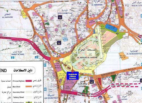 Mapa de Meca – Arábia Saudita