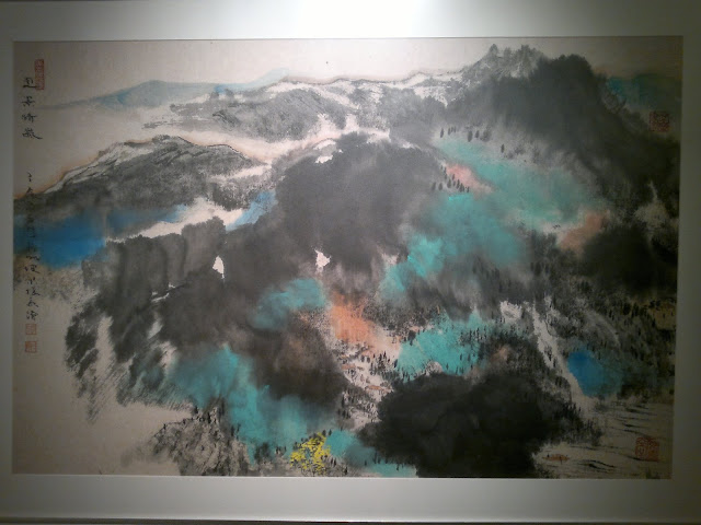 Korea, Cheju, Village scenery, Natural Impressionism, Stephen Leong Chun Hong, Societe Generale Gallery, Alliance Francaise de Singapour, Singapore, 1 Saskies Road