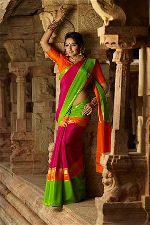 Cute Mysore Silk Saree Designs