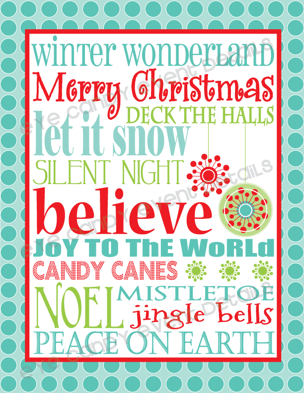 Sweet image inside free printable christmas