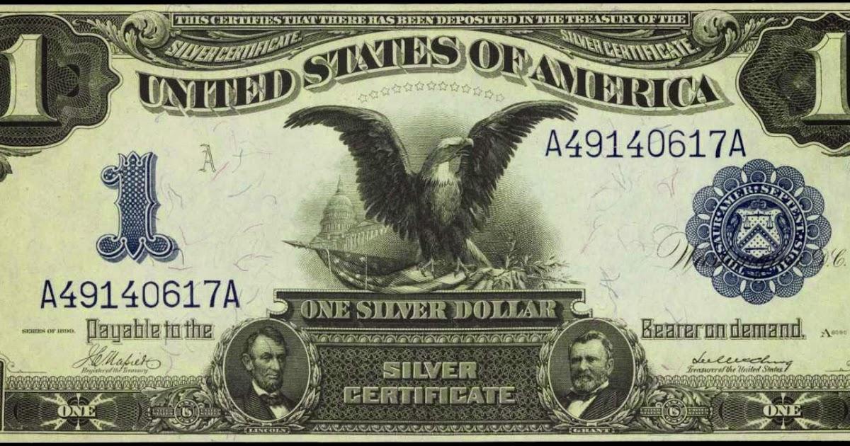 1899 one dollar silver certificate black eagle