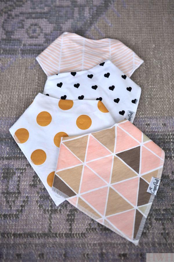 Copper Pearl bandana drool bibs- adore the chic design