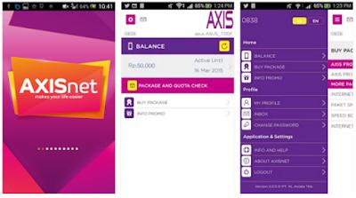 Tampilan Aplikasi Axisnet Apk