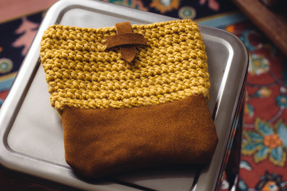 Leather Crochet Bag : ... video and double crochet video to make this crochet and leather bag