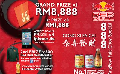 Peraduan '888 Ang Pow Fatt Choy Special' Red Bull