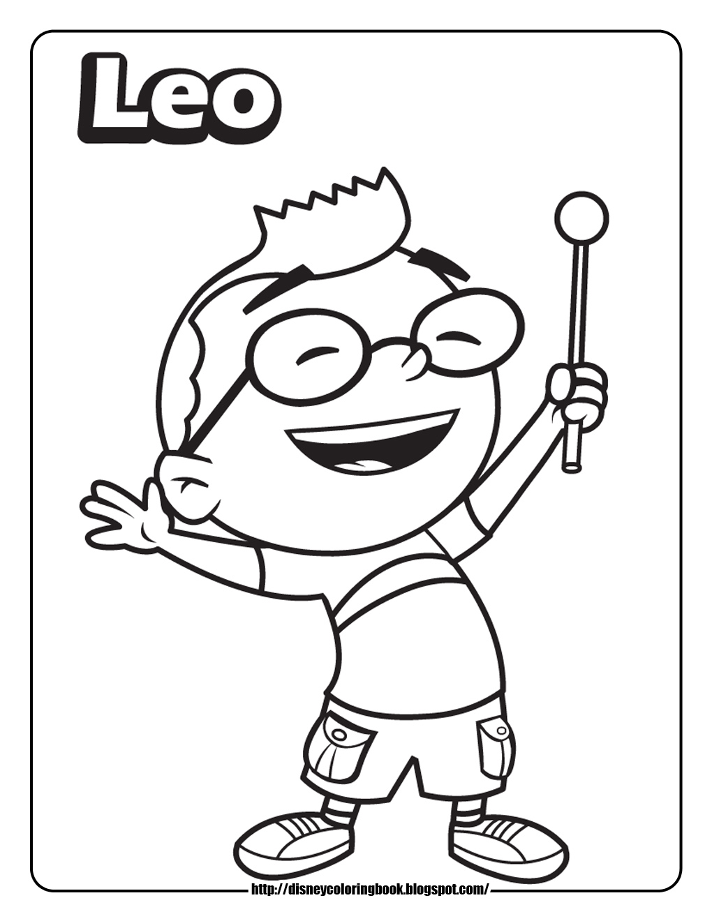 Little Einsteins Coloring Pages Leo