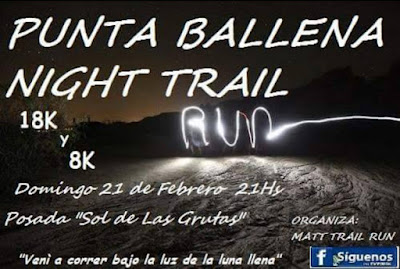 18k y 8k Punta Ballena Night Trail (21/feb/2016)