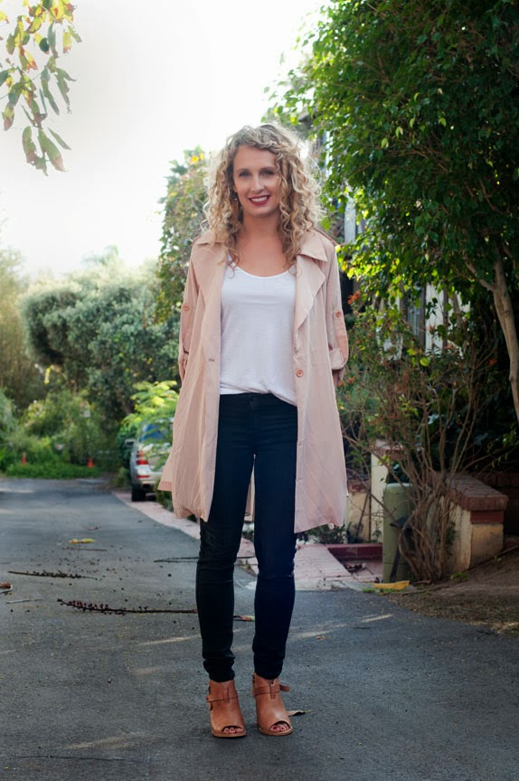 blush trenchcoat