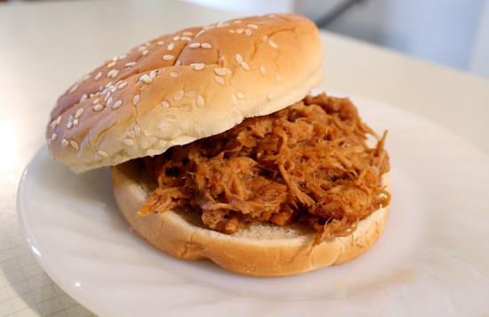 ... TADPOLE: Zesty Barbecue Shredded Chicken Sandwiches - Crockpot Recipe