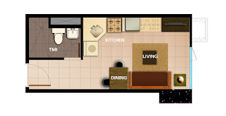 Avida Towers Intima Studio Unit Plan