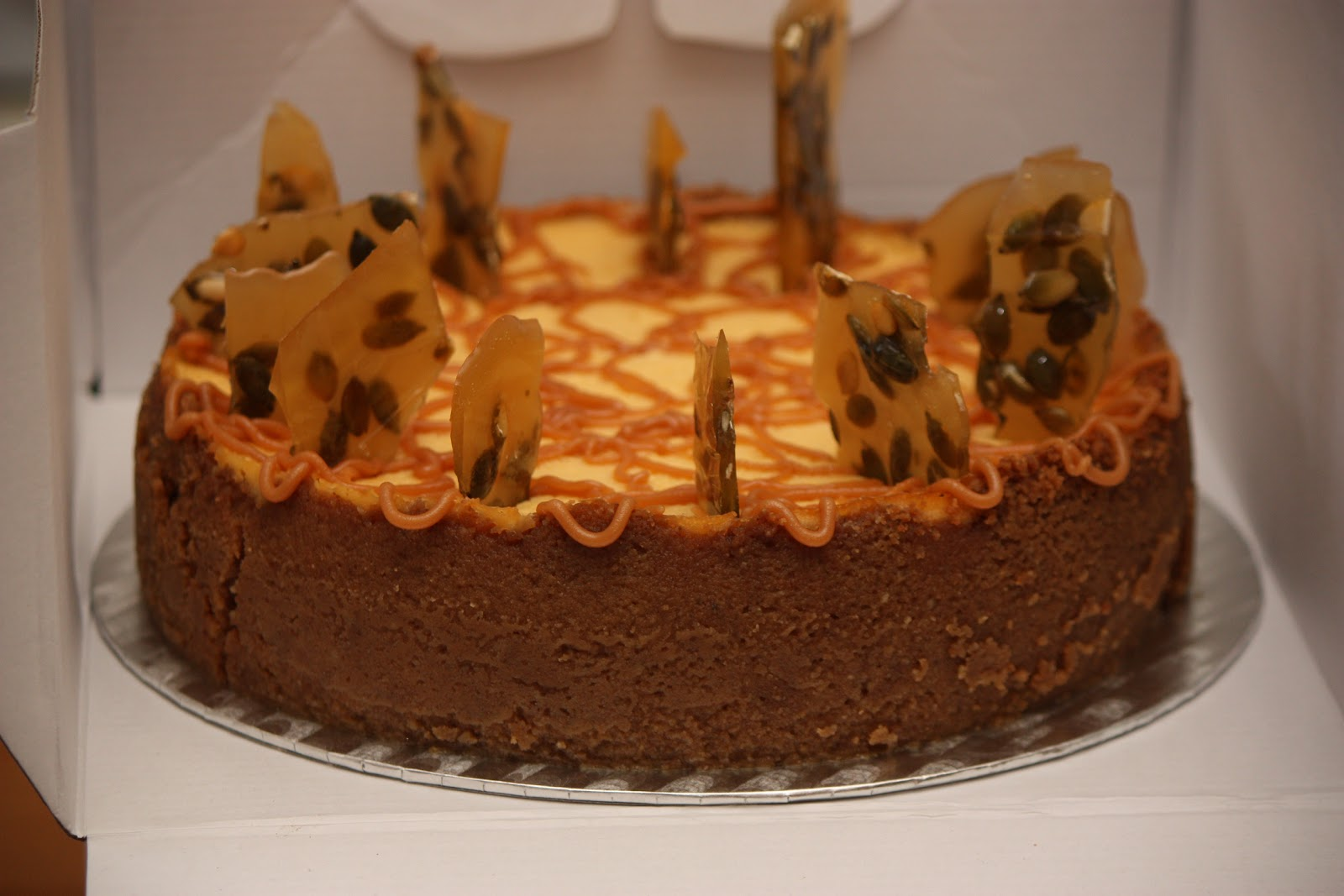 Pure Pumpkin Cheesecake with Pepita Brittle - Polish Housewife