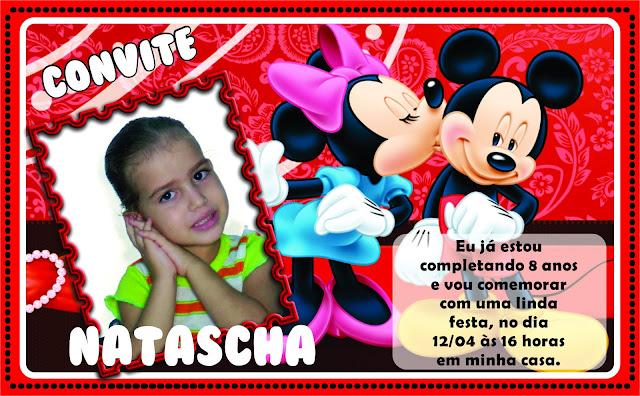 Convite de Aniversário para Meninas Minie e Mickey.
