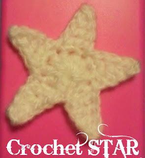 カギ針編みの星モチーフ
