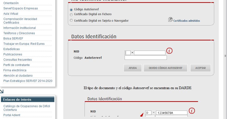 El blog de los parados cambios para la inscripci n como for Inscripcion oficina de empleo