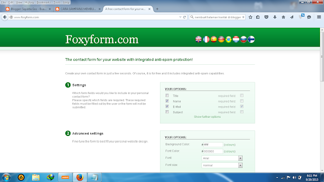 Cara Membuat Contact Form di Blogger