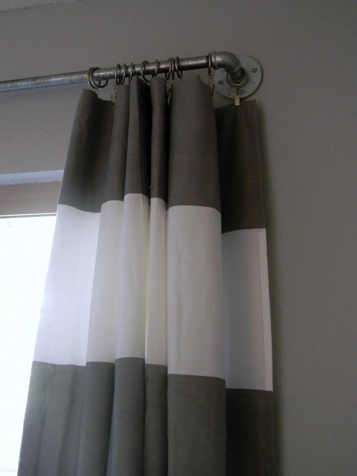 diy west elm curtain rod striped curtains schue love. Black Bedroom Furniture Sets. Home Design Ideas