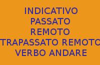 CHI MI AIUTA A SCRIVERE 10 FRASI CON IL VERBO ANDARE ALL'INDICATIVO PASSATO REMOTO E TRAPASSATO REMOTO IN ITALIANO ?