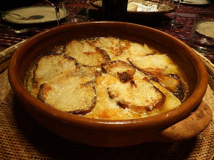 Zuppa di zucca gratinata