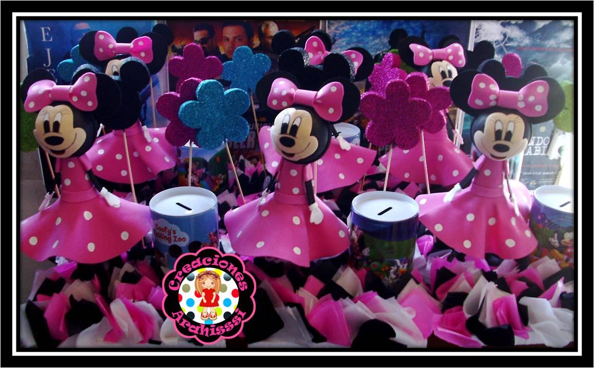 Centro de Mesa Fofucha Minnie Mouse, estos arreglos son para la fiesta ...