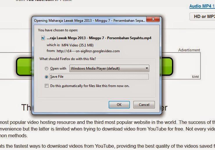 Bagaimana download youtube dengan cepat