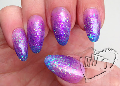 Gel Nail Art Design Glitter Gradient sparkle