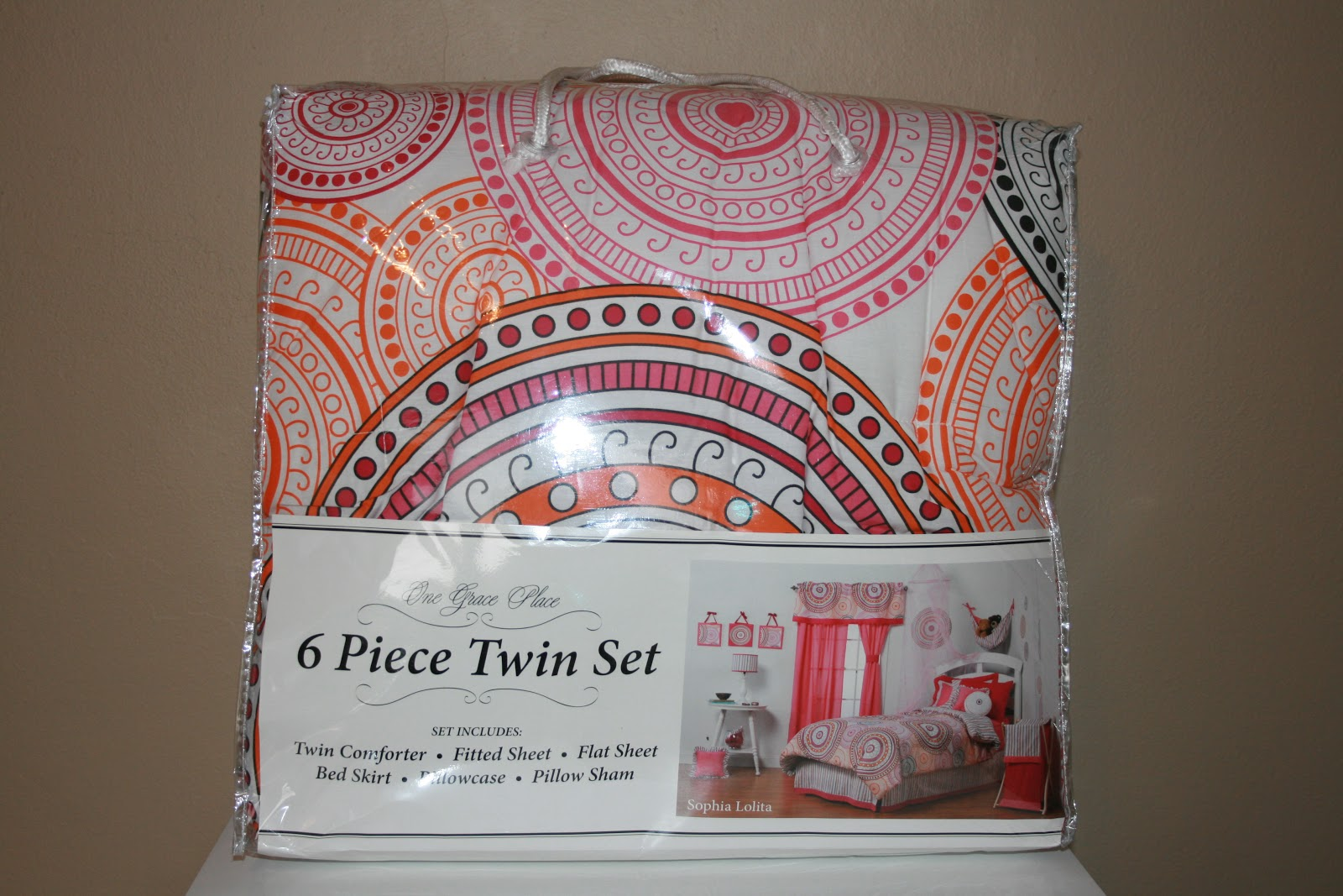 Trying To Go Green One Grace Place BED Set Review And Wall Decal - Winners bedding