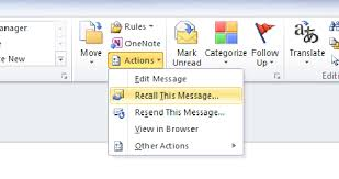 How to Recall Sent Email Message in Outlook