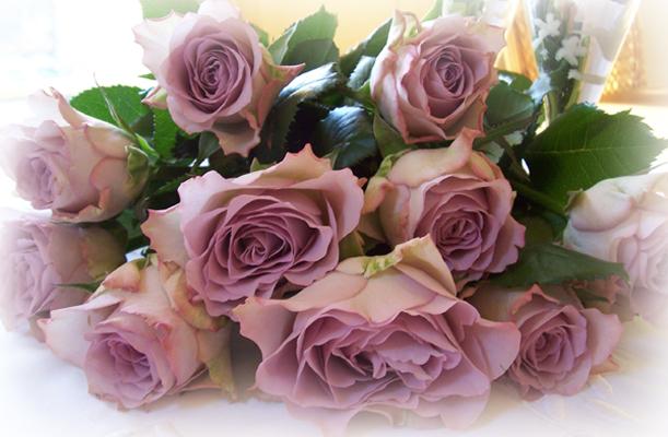 Afskårne Roser mit vintage-hus: forårs blomster