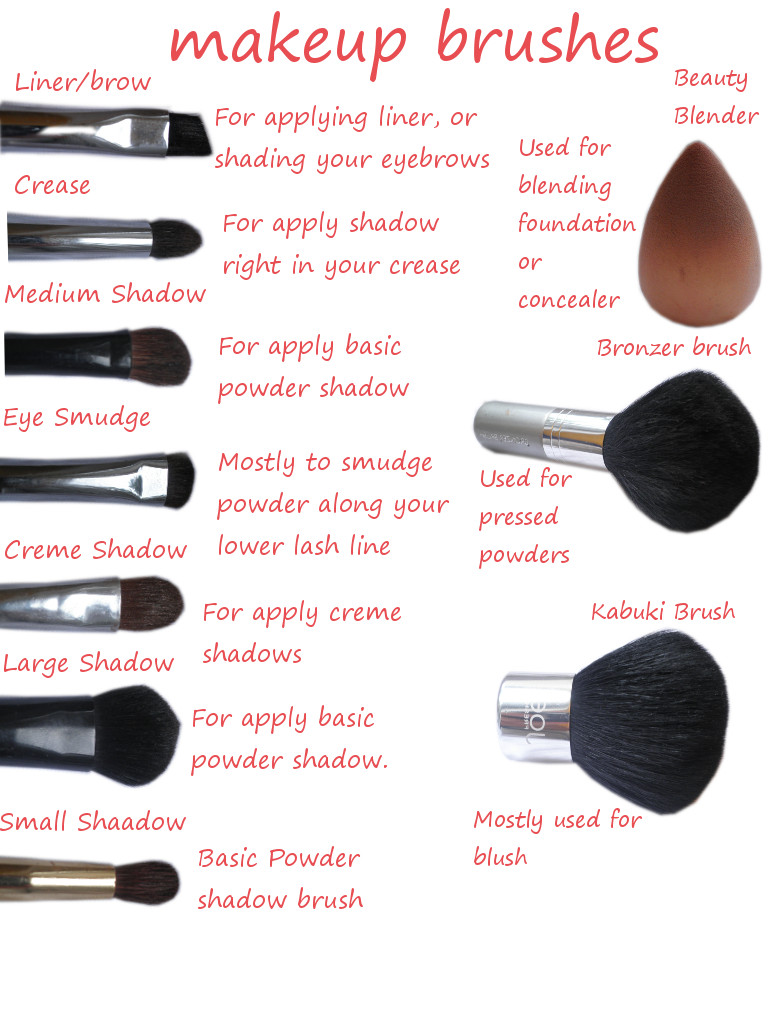 All Different Types Of Makeup Brushes